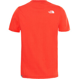 The North Face Easy T-shirt Enfant, fiery red/tnf white